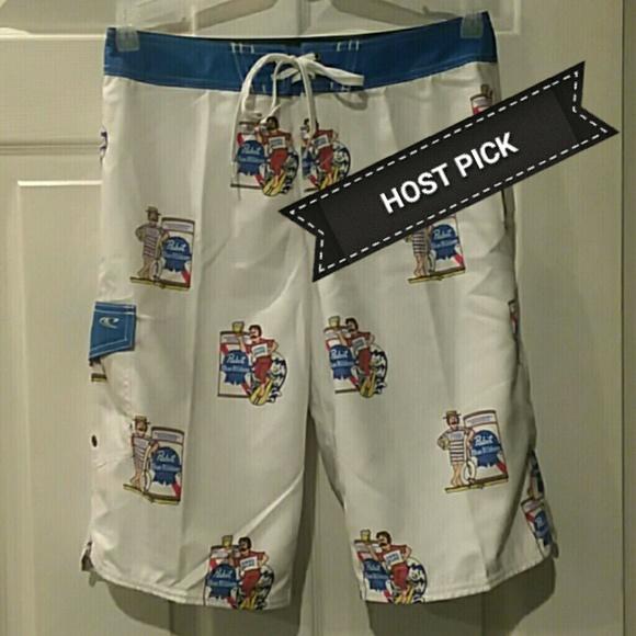c91d34093e O'Neill Swim | New Oneill Pabst Blue Ribbon Beer Shorts | Poshmark